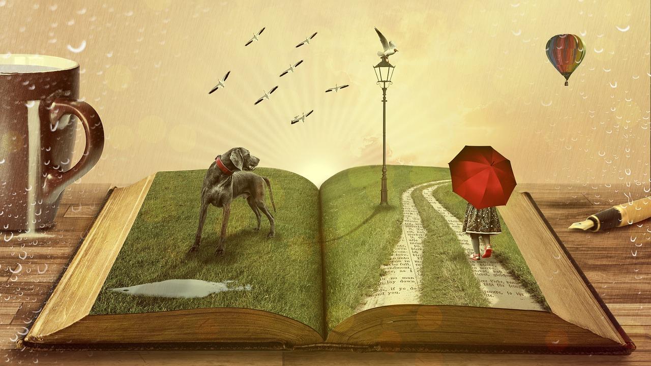 abstrakcyjna książka